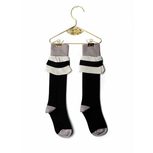 Wolf & Rita Socks Frill Black kniesokken