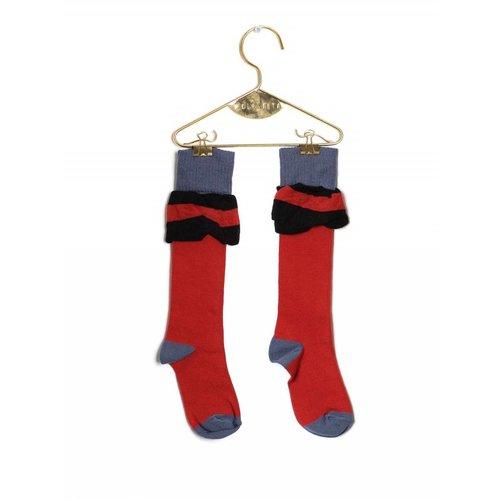 Wolf & Rita Socks Frill Brick kniesokken