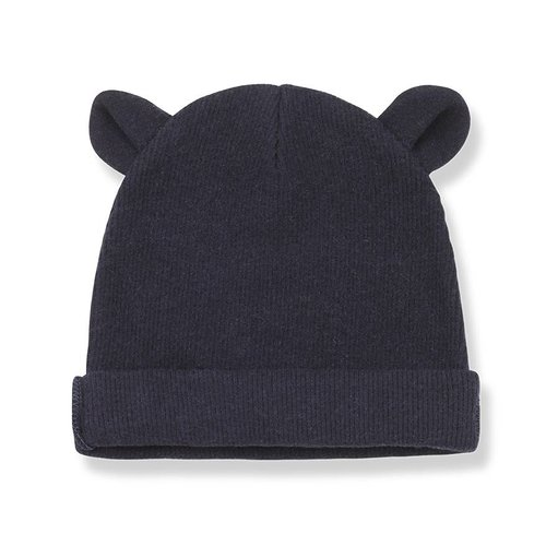 1+ in the Family Abel Bonnet Ears Blue beanie