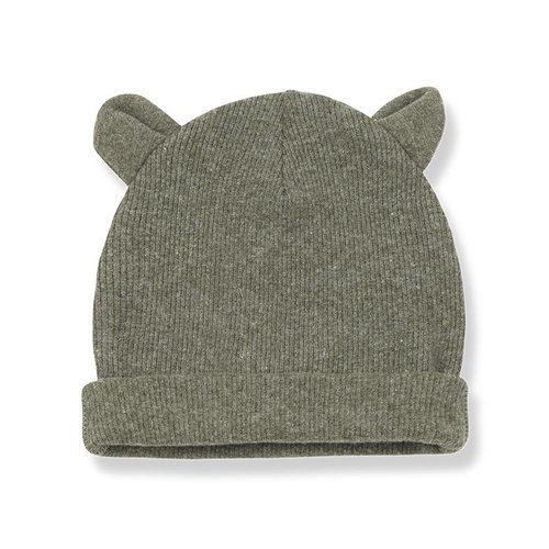 1+ in the Family Abel Bonnet Ears Khaki beanie