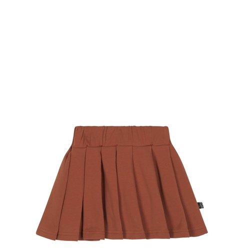 House of Jamie Pleated Skirt Rust rok
