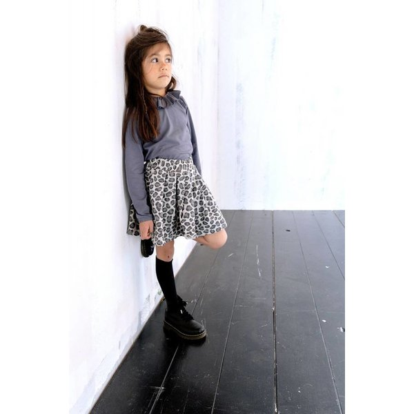 Pleated Skirt Rocky Leopard