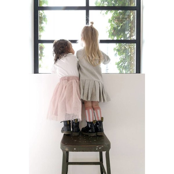 Long Tulle Skirt Powder Pink