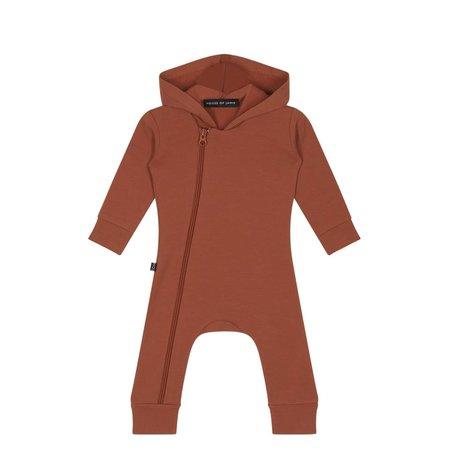 House of Jamie Hoody Zip Jumpsuit Rust