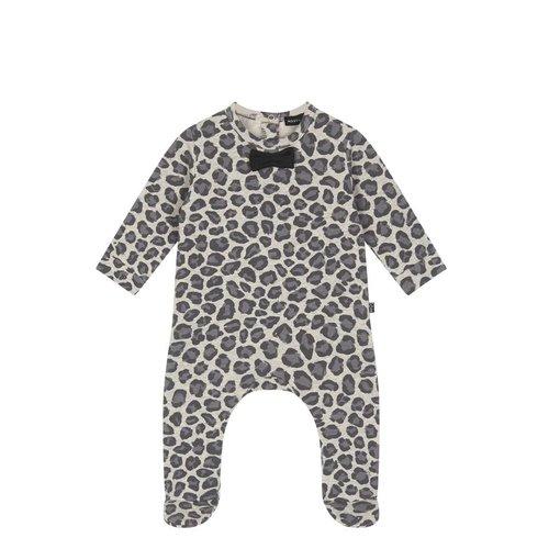 House of Jamie Bow Tie Babysuit Rocky Leopard