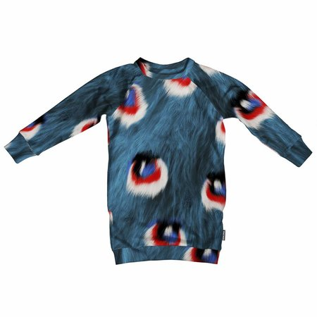 SNURK Peacock Fur Sweater Dress jurk