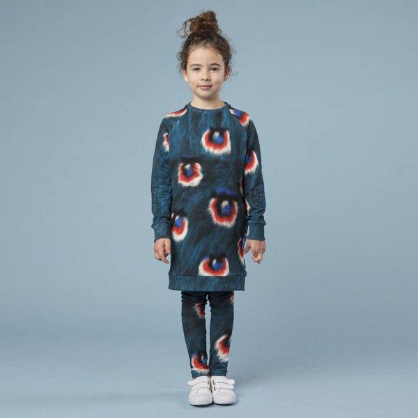 Peacock Fur Sweater Dress jurk