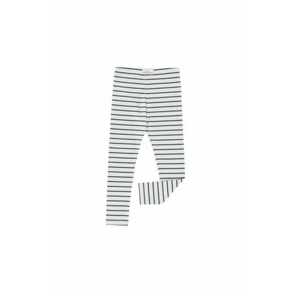 Small Stripes pant light grey/dark green