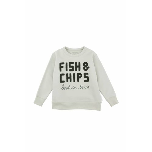 Tinycottons Fish & Chips Graphic Sweatshirt trui