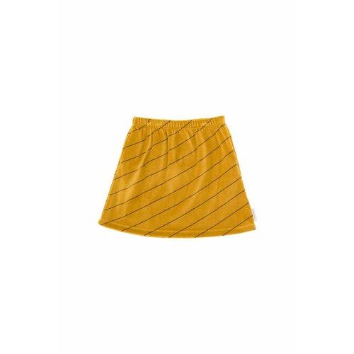 Tinycottons Diagonal Stripes Plush Skirt
