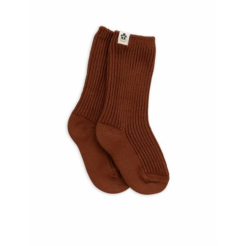 Mini Rodini Wool Socks Brown