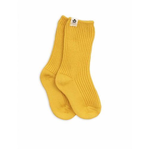 Mini Rodini Wool Socks Yellow sokken