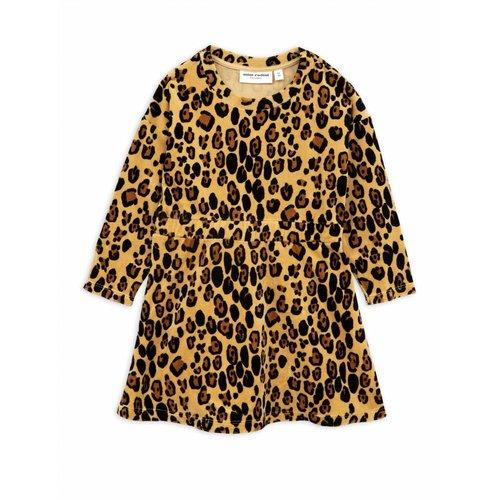 Mini Rodini Leopard Velours Dress jurk
