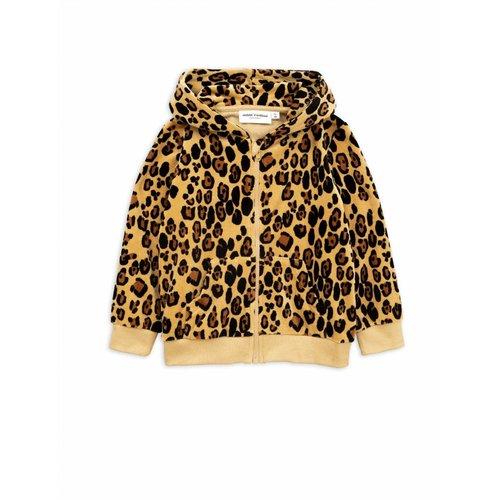Mini Rodini Leopard Velours Zip Hoodie