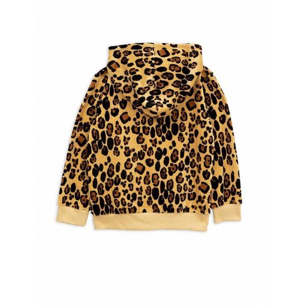 Leopard Velours Zip Hoodie