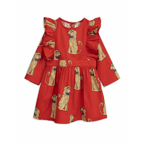 Mini Rodini Spaniels Woven Ruffled Dress jurk