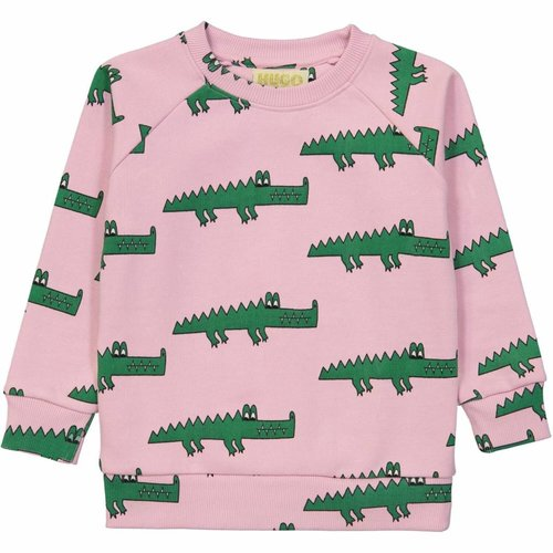 Hugo Loves Tiki Sweatshirt Pink Crocodile