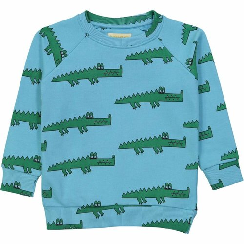 Hugo Loves Tiki Sweatshirt Blue Crocodile trui