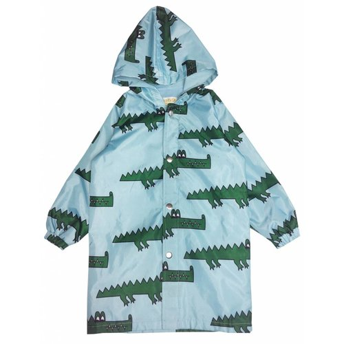 Hugo Loves Tiki Rain Coat Blue Crocodile regenjas