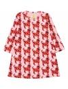 Swing Dress Red Dogs jurk