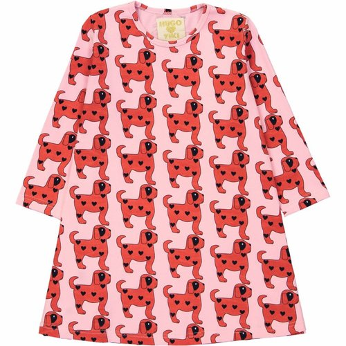 Hugo Loves Tiki Swing Dress Red Dogs