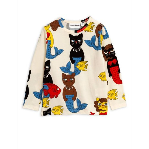 Mini Rodini Cat Mermaid AOP LS Tee
