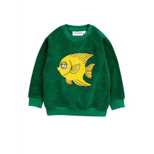 Mini Rodini Fish Terry Sweatshirt trui