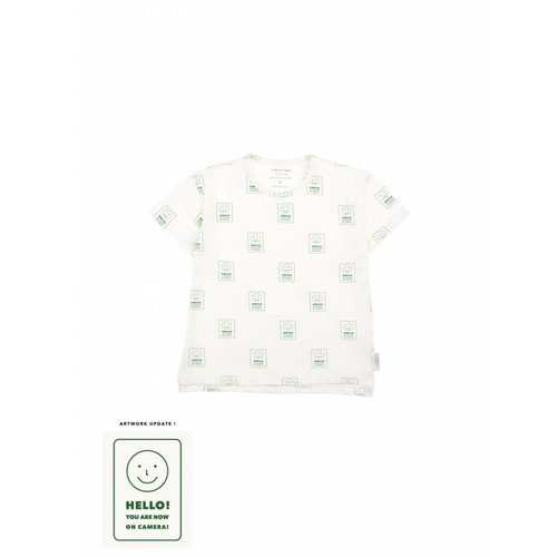 Tinycottons Hello SS Tee off-white/deep green - t shirt