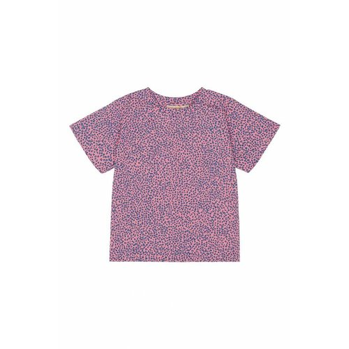 Soft Gallery Dominique t-shirt AOP Leospot Pink Icing