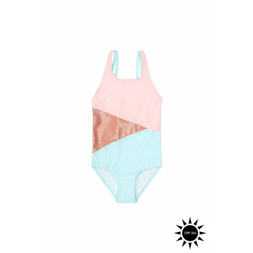 Soft Gallery Darlin Swimsuit Block Swim Girl - zwempak