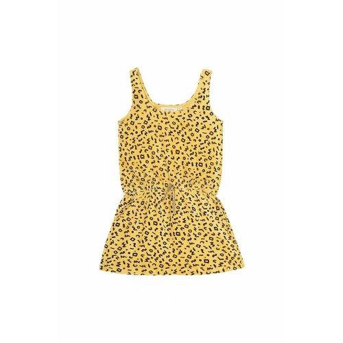 Soft Gallery Darla Dress AOP Scribble Mimosa - jurk