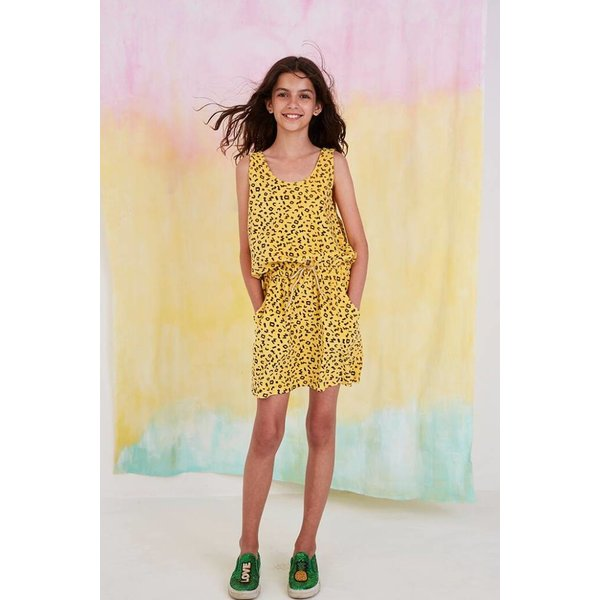 Darla Dress AOP Scribble Mimosa - jurk