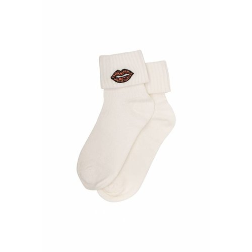 Soft Gallery Leolips Socks Cloud Dancer - sokken