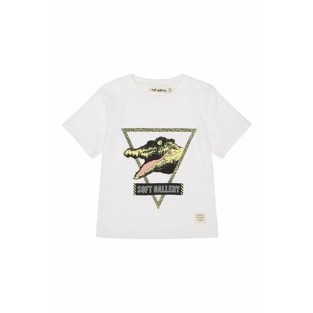 Soft Gallery Asger T-shirt See Ya White