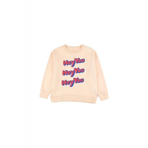 Tinycottons HEY YOU Sweatshirt cream