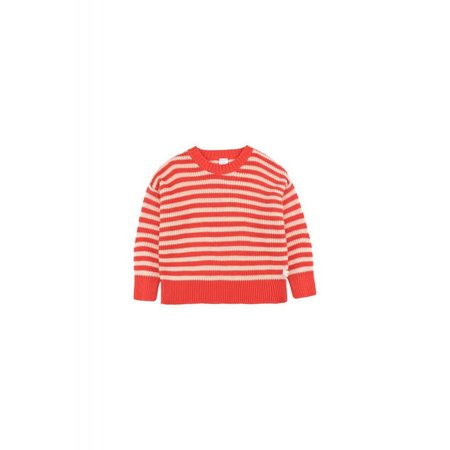 Tinycottons Stripes Sweater Cream/red - trui