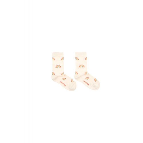 Tinycottons Rainbow Medium Socks Cream - sokken