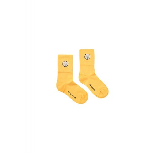 Tinycottons Happy Face Medium Socks Canary