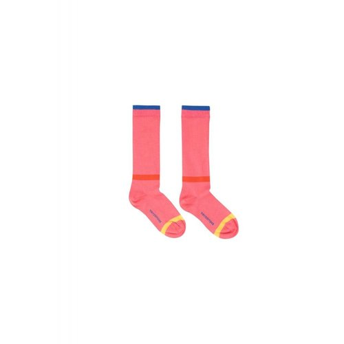 Tinycottons Lines High Socks rose - knie sokken