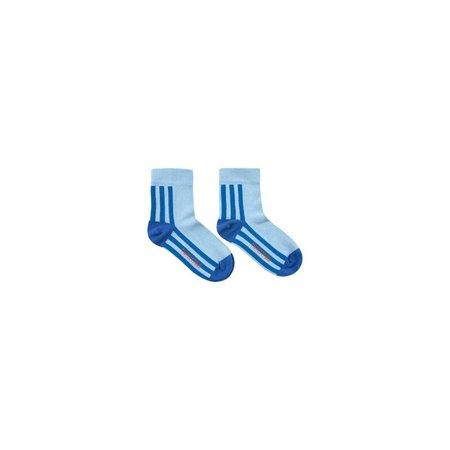 Tinycottons Stripes Quarter Socks mid blue/ultramarina - sokken