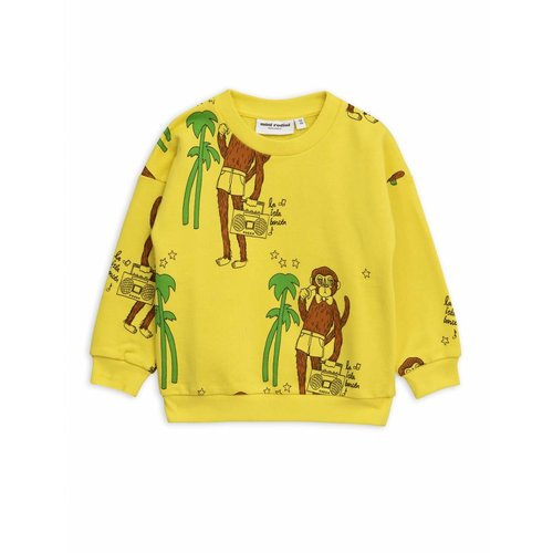 Mini Rodini Cool Monkey AOP Sweatshirt Yellow - trui