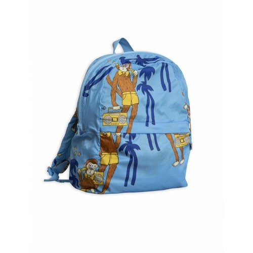Mini Rodini Cool Monkey Light Weight Backpack blue - rugzak