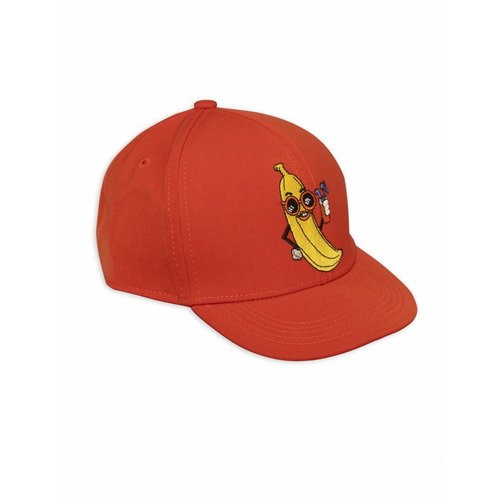 Mini Rodini Banana Embroidery Cap red
