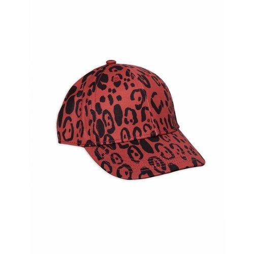Mini Rodini Leopard Cap red