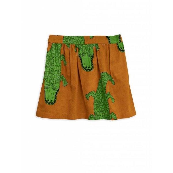 Crocco Woven Skirt Brown - rok