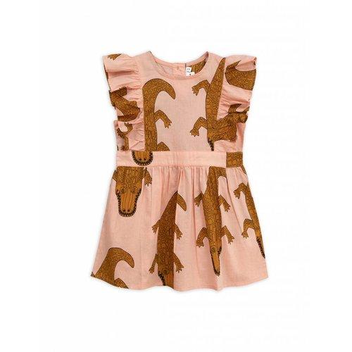 Mini Rodini Crocco Ruffled Dress Pink - jurk
