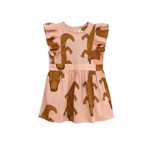 Crocco Ruffled Dress Pink - jurk