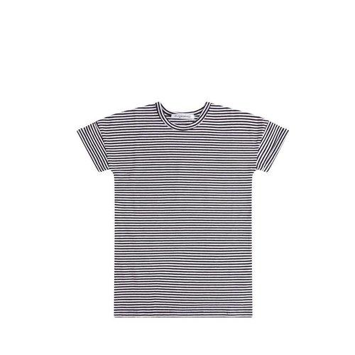 MINGO T-shirt Dress b/w Stripes jurk