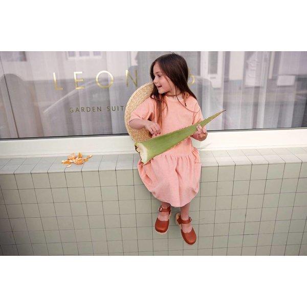 Terry Dress Peach Pink - jurk