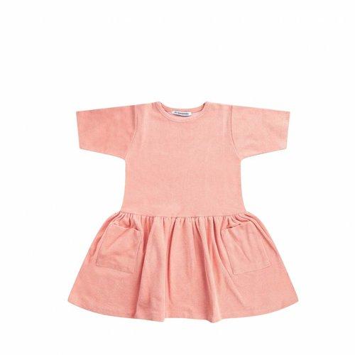 MINGO Terry Dress Peach Pink - jurk